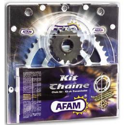 KIT CHAINE RENFORCE LTZ 400 09/18 AFAM CHAINE 520 ACIER TYPE XRR2