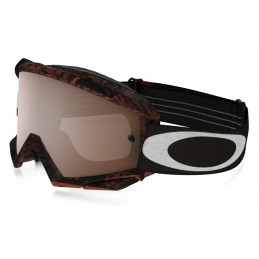 Masque OAKLEY Proven Distress Tagline Red/Black écran Black Iridium + transparent