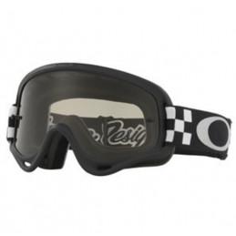 Masque Lunettes OAKLEY XS O Frame Troy Lee Designs Checker écran Dark grey
