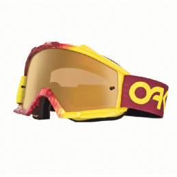 Masque OAKLEY Proven Factory Fade Red/Yellow écran Fire Iridium