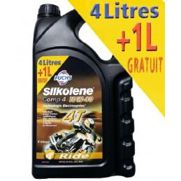 HUILE SILKOLENE COMP 4 10w40 4 litres +1litres GRATUIT