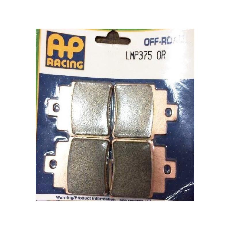 plaquettes de frein arriere kxr 250 ap racing 02 09 lmp375or. Black Bedroom Furniture Sets. Home Design Ideas