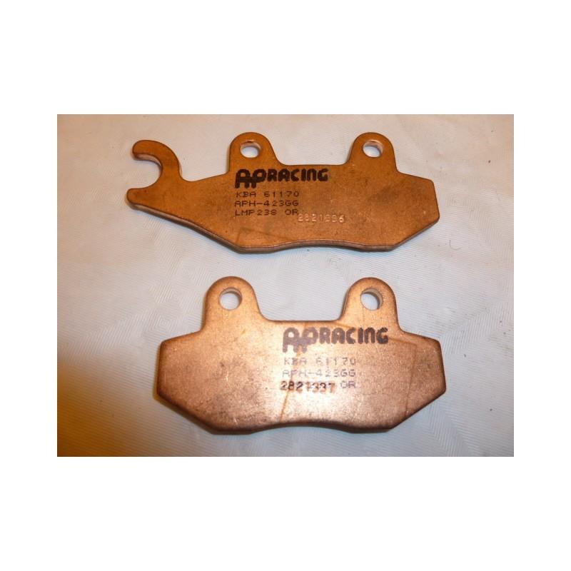 AHL 1 Paire plaquettes frein Avant//Arri/ère pour Yamaha YFM 660 RN//RP//RR//RS Raptor 2001-2004